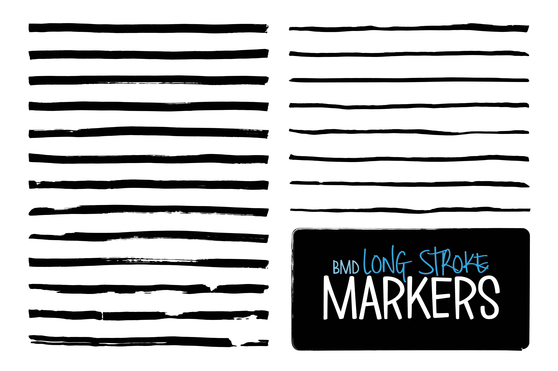 long stroke markers